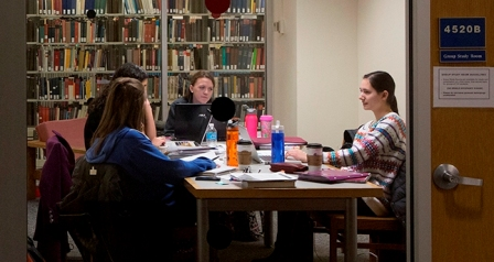Bartle Library Group Study Room. Photo by Jonathan Cohen.