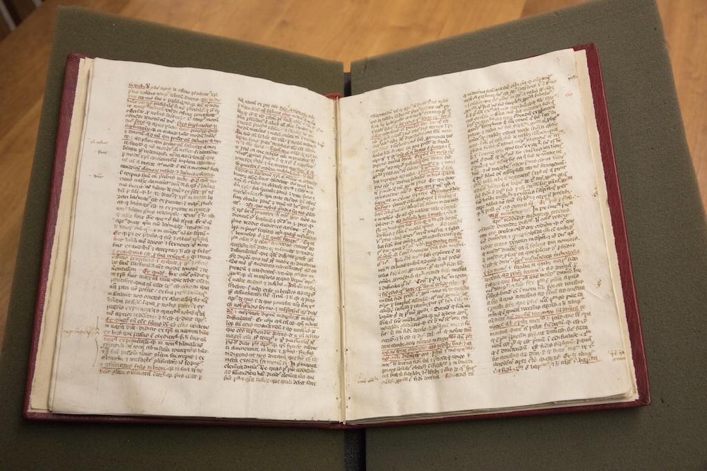 14th-century manuscript of Nicholas of Lyraís Postilla litterali