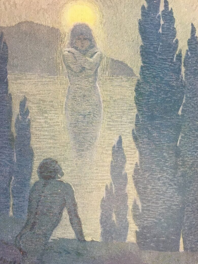 Illustration by Margaret C. Cook. In Poems from Leaves of Grass. London: J.M. Dent & New York: E.P. Dutton, 1913