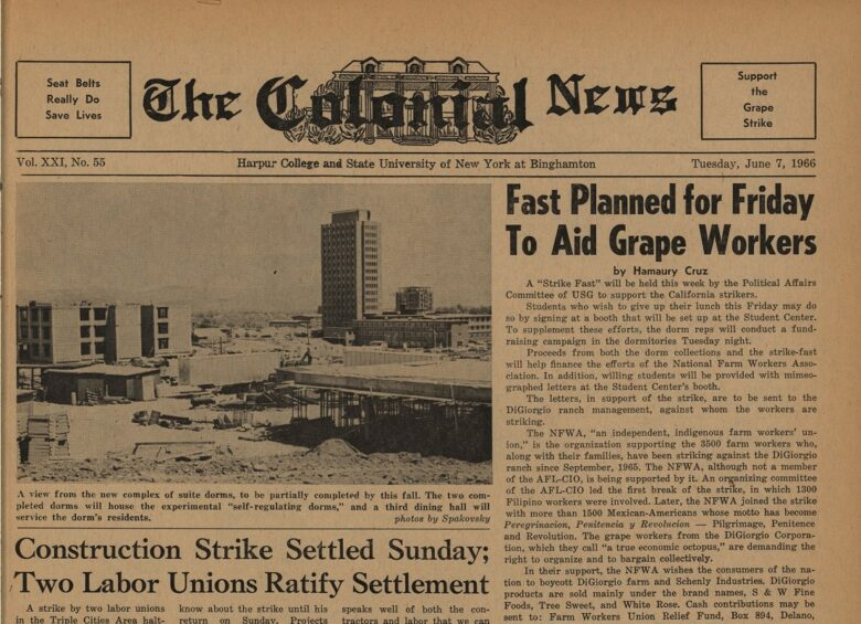 Front page of a Colonial News paper from 1966
