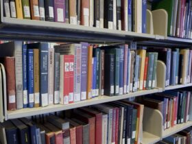 Image of books on shelves