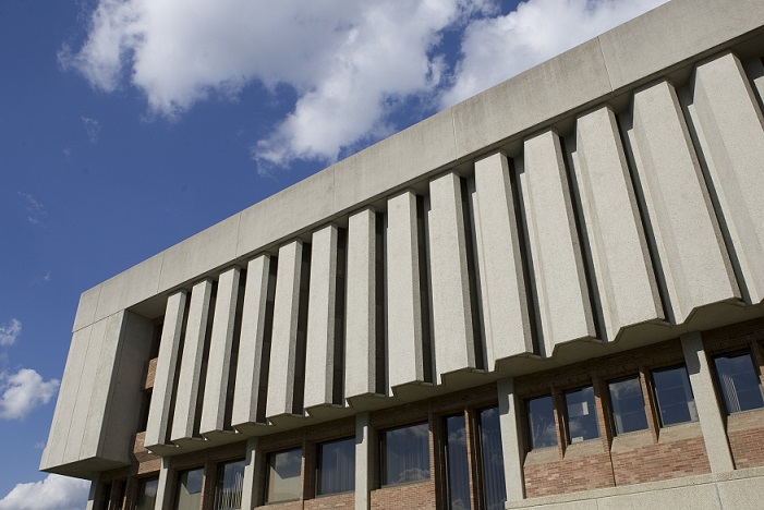 Exterior view of Bartle Library 3rd and 4th floors