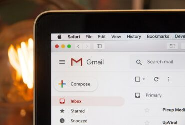 Image of computer with Google email on the screen